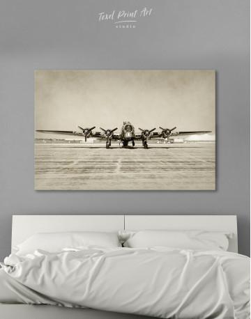 Propeller Driven Aircraft Canvas Wall Art