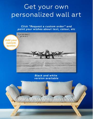 Propeller Driven Aircraft Canvas Wall Art - image 7