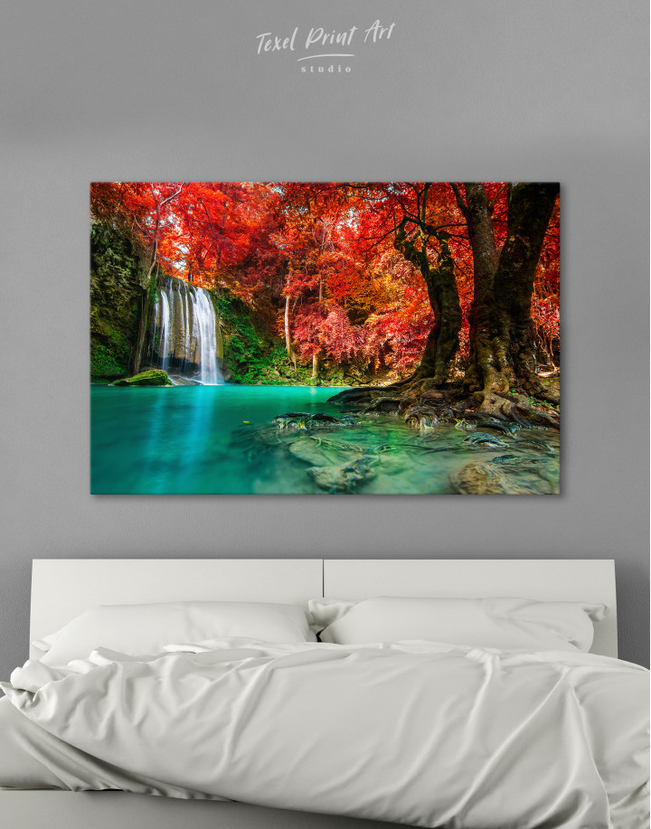 Erawan Waterfall Thailand Canvas Wall Art