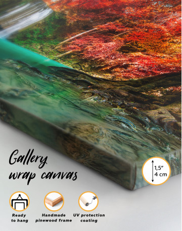 Erawan Waterfall Thailand Canvas Wall Art - image 8