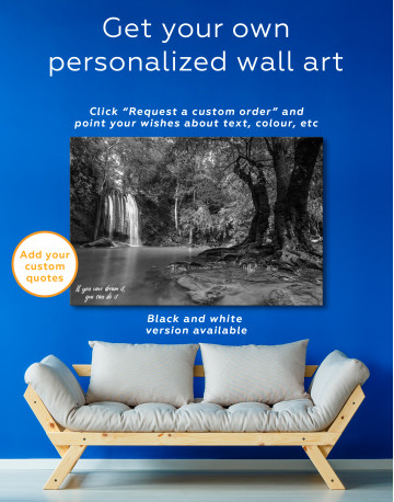 Erawan Waterfall Thailand Canvas Wall Art - image 1