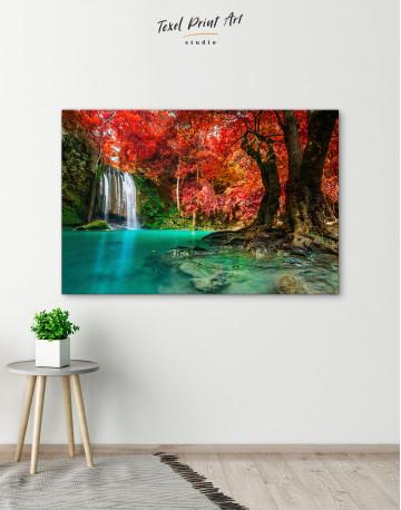 Erawan Waterfall Thailand Canvas Wall Art - image 2