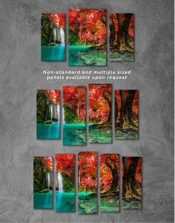 Erawan Waterfall Thailand Canvas Wall Art - image 3