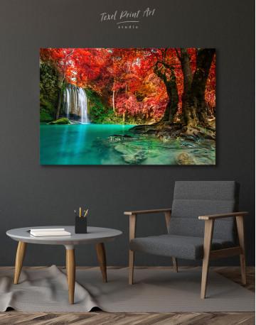 Erawan Waterfall Thailand Canvas Wall Art - image 4