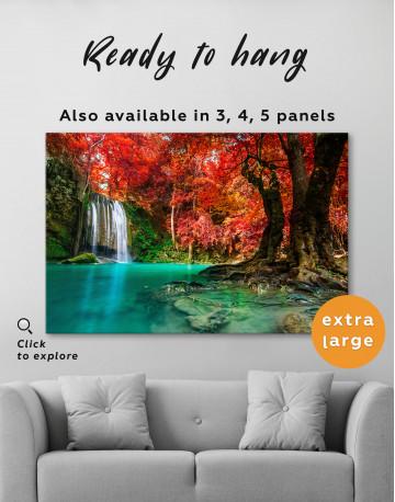 Erawan Waterfall Thailand Canvas Wall Art - image 5