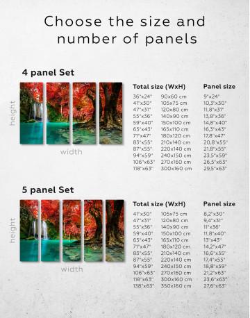 Erawan Waterfall Thailand Canvas Wall Art - image 6