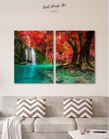 Erawan Waterfall Thailand Canvas Wall Art - image 9