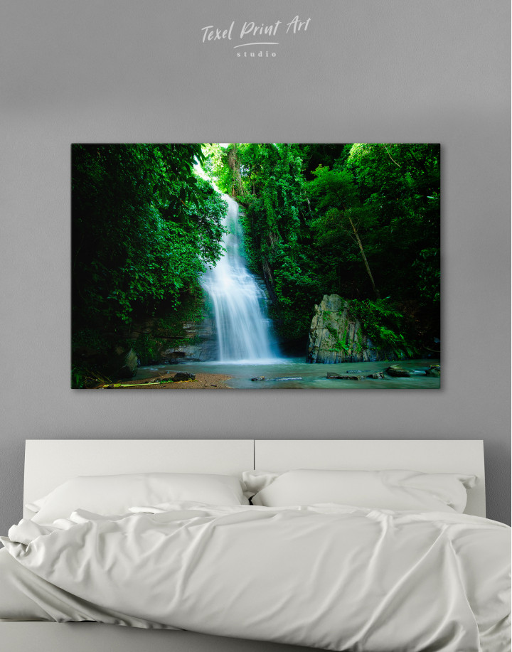 Forest Waterfall Canvas Wall Art