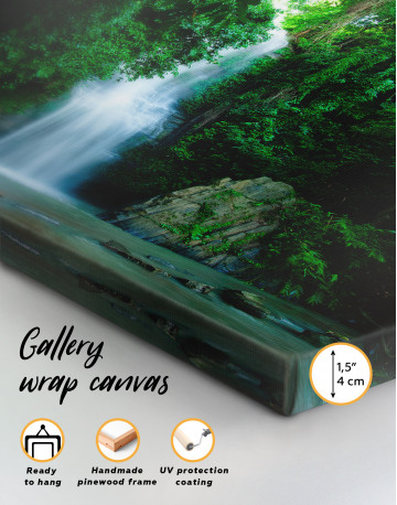 Forest Waterfall Canvas Wall Art - image 2