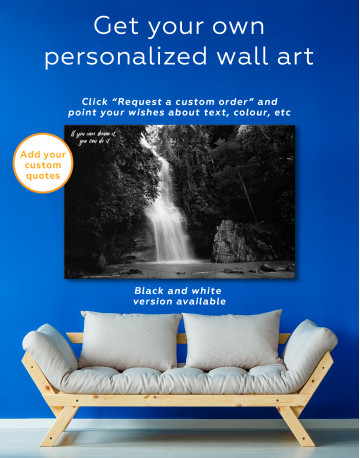 Forest Waterfall Canvas Wall Art - image 3