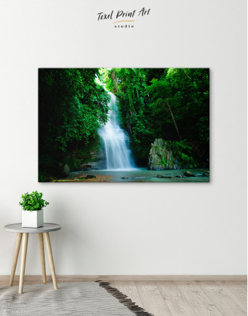 Forest Waterfall Canvas Wall Art - image 4