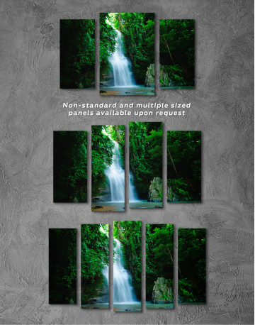 Forest Waterfall Canvas Wall Art - image 5
