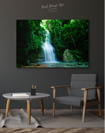 Forest Waterfall Canvas Wall Art - image 6