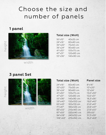 Forest Waterfall Canvas Wall Art - image 9