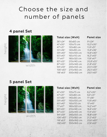 Forest Waterfall Canvas Wall Art - image 8