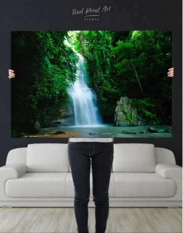Forest Waterfall Canvas Wall Art - image 10