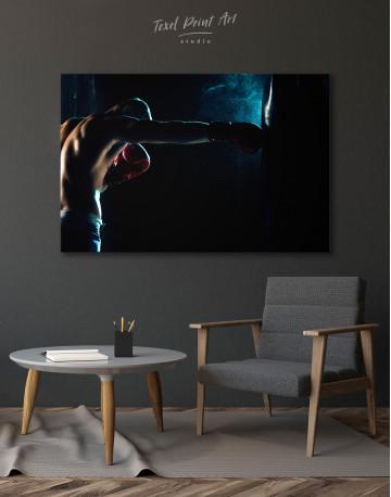 Boxer Punching a Punching Bag Canvas Wall Art - image 4