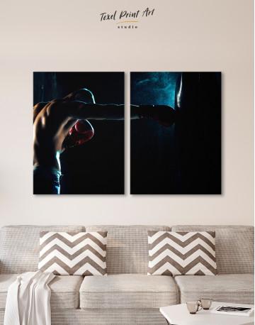 Boxer Punching a Punching Bag Canvas Wall Art - image 9