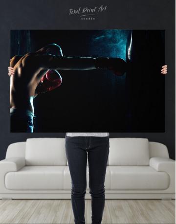 Boxer Punching a Punching Bag Canvas Wall Art - image 10