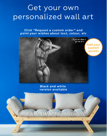 Wet Sexy Girl Canvas Wall Art - image 1