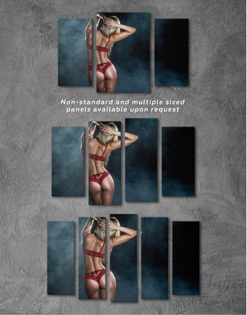 Wet Sexy Girl Canvas Wall Art - image 3