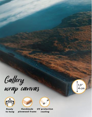 Panoramic Skogafoss Waterfall Canvas Wall Art - image 3