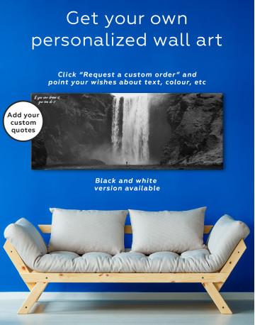 Panoramic Skogafoss Waterfall Canvas Wall Art - image 2