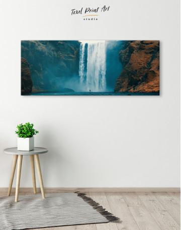 Panoramic Skogafoss Waterfall Canvas Wall Art - image 4