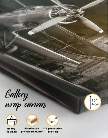 Silver Vintage Aircraft Canvas Wall Art - image 2