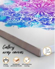 Purple and Blue Watercolor Mandala Canvas Wall Art - Image 4