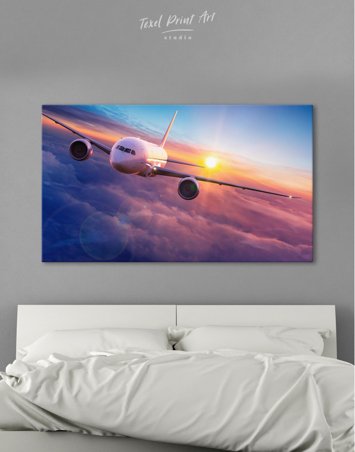 Airplane Above the Cloud Canvas Wall Art