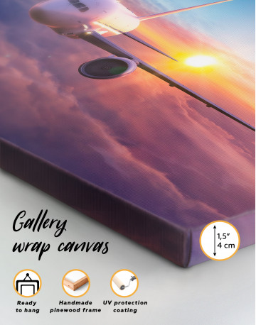 Airplane Above the Cloud Canvas Wall Art - image 8