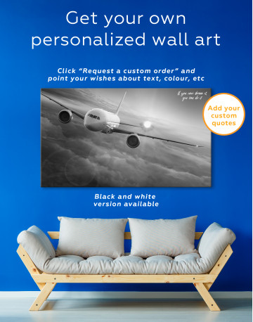 Airplane Above the Cloud Canvas Wall Art - image 7