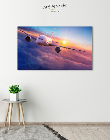 Airplane Above the Cloud Canvas Wall Art - image 6
