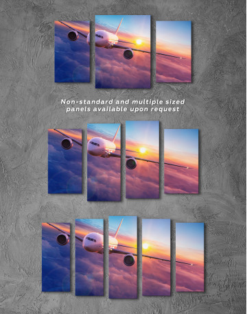 Airplane Above the Cloud Canvas Wall Art - image 5