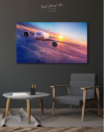 Airplane Above the Cloud Canvas Wall Art - image 4