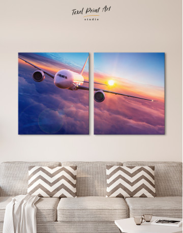 Airplane Above the Cloud Canvas Wall Art - image 9