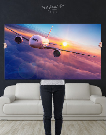 Airplane Above the Cloud Canvas Wall Art - image 10