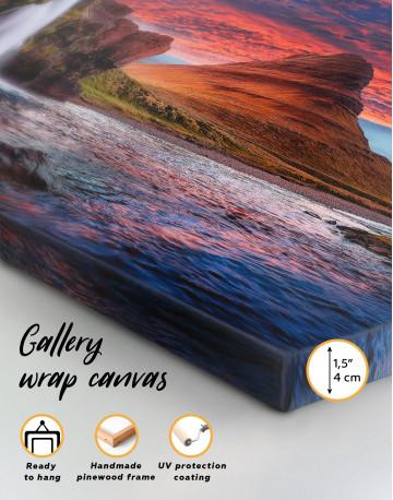 Kirkjufell Iceland Landscape Canvas Wall Art - image 1