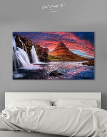 Kirkjufell Iceland Landscape Canvas Wall Art