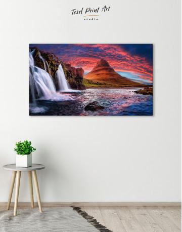 Kirkjufell Iceland Landscape Canvas Wall Art - image 2