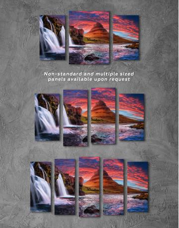 Kirkjufell Iceland Landscape Canvas Wall Art - image 3