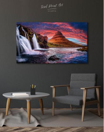 Kirkjufell Iceland Landscape Canvas Wall Art - image 4
