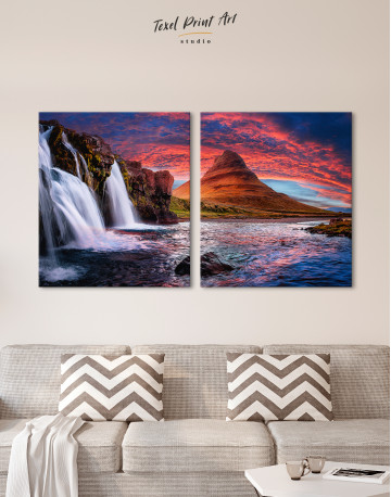 Kirkjufell Iceland Landscape Canvas Wall Art - image 9