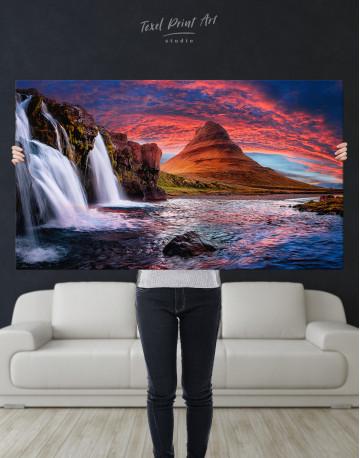 Kirkjufell Iceland Landscape Canvas Wall Art - image 10