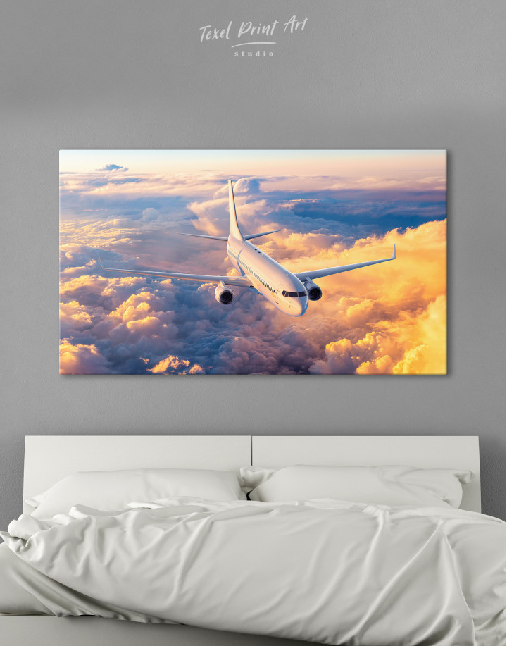 Flying Boeing Airplane Canvas Wall Art