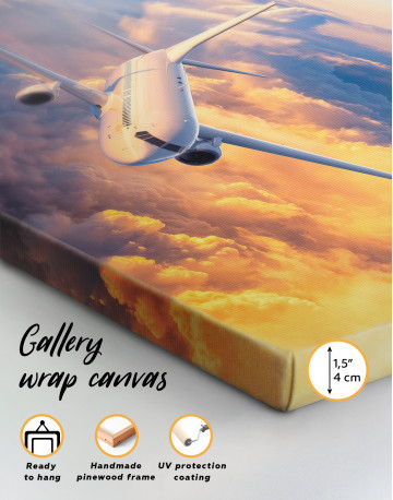 Flying Boeing Airplane Canvas Wall Art - image 8