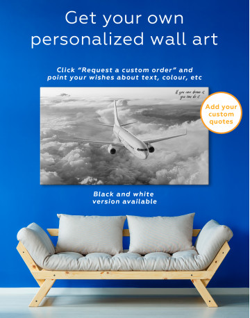 Flying Boeing Airplane Canvas Wall Art - image 7
