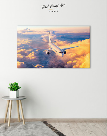 Flying Boeing Airplane Canvas Wall Art - image 6