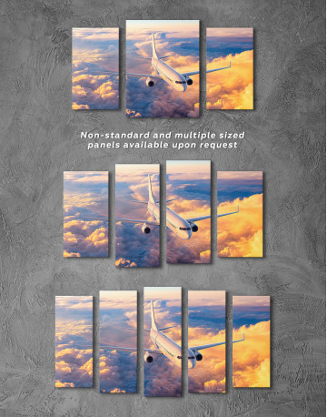 Flying Boeing Airplane Canvas Wall Art - image 5